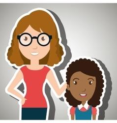 teacher student school teenage vector image