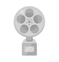 the golden reel of filmaward for the best vector image vector image