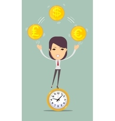 Time is money concept background vector