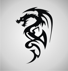 Tribal dragon tattoo design vector