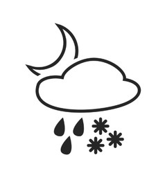 Heavy rain with snow sleet shower vector