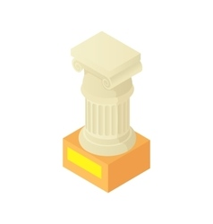 Antique column pillar icon cartoon style vector