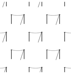 Tightrope icon in black style isolated on white vector image