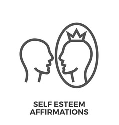Self esteem affirmations vector