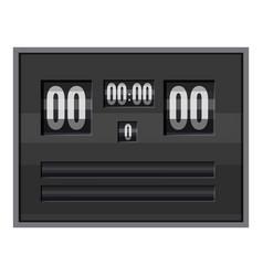 black electronic soccer scoreboard icon vector image