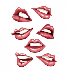 Lips set vector