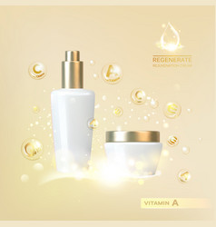 bottle of cosmetic vector image