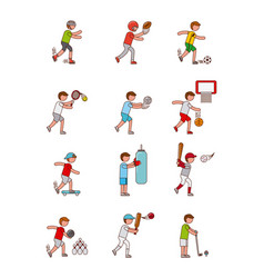 Assorted sports image vector