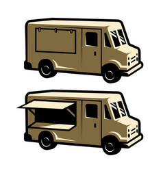 Food truck template vector