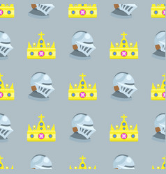 Golden crown seamless pattern vector