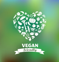 vegetarian and vegan healthy organic background vector image