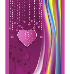 valentines day violet abstract background vector image