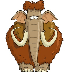 Furry mammoth vector