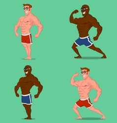 Set bodybuilders vector