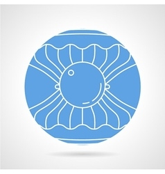 Scallop round icon vector