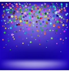 Set of colorful stars starry pattern vector