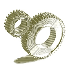 Engraved gears vector