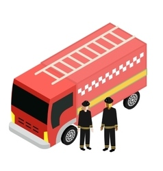 Of fire truck car isolated vector