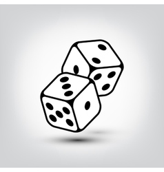 Dices icon vector