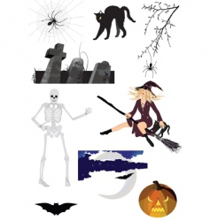 scary halloween vector image