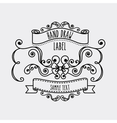 Label and decoration icon hand draw design vector