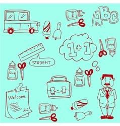 Doodles school collection stock vector