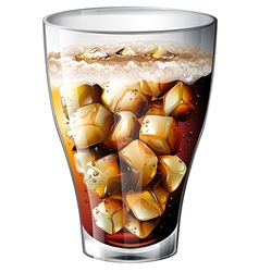 A glass of an alcoholic mixed drink vector image