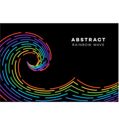 Abstract rainbow wave conceptual vector