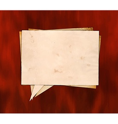 Aged paper speech bubble on the wood vector image vector image