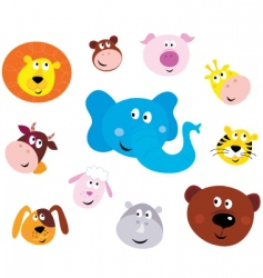 animal emoticons vector image vector image