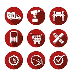 Basic simple shopping icons vector