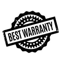 Best warranty rubber stamp vector