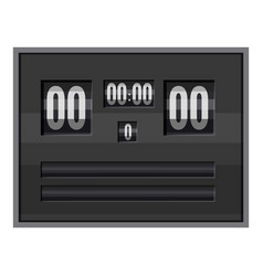 Black electronic soccer scoreboard icon vector