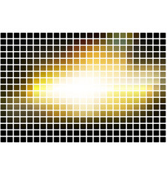 black yellow white abstract rounded mosaic vector image vector image