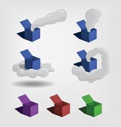 box and smoke vector image vector image