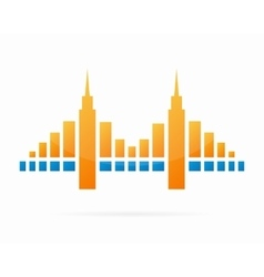 Bridge logo design elements vector
