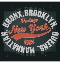 Brooklyn t-shirt graphics vector image vector image