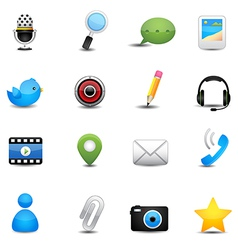 Chat application and social media icons vector