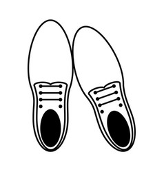 Classic shoes icon image vector
