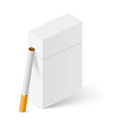 closed full pack of cigarettes on white vector image