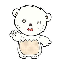 Comic cartoon worried polar bear vector