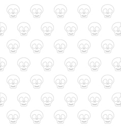 cute skull icon vector image vector image