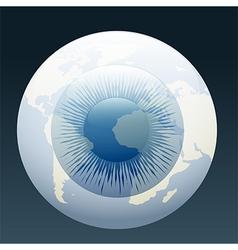 Eyeball globe vector