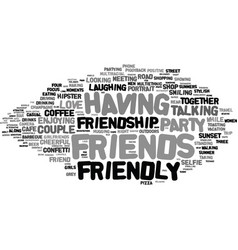 friendly word cloud concept vector image vector image