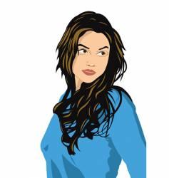girl's portrait vector image