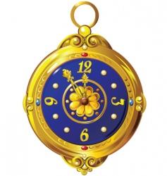 Gold clock vector