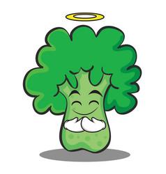 innocent broccoli chracter cartoon style vector image