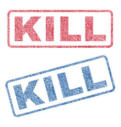 Kill textile stamps vector