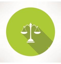Law symbol vector image