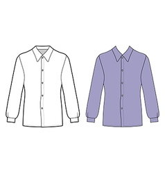 Long sleeve mans buttoned shirt vector image vector image